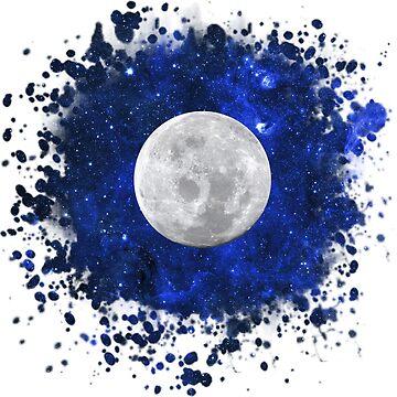 Universe & Moon by AnnieKress