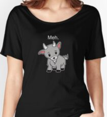Meh. - Goat of indifference  Women's Relaxed Fit T-Shirt