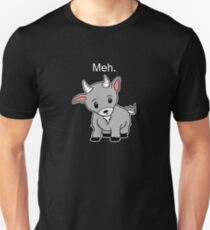 Meh. - Goat of indifference  Unisex T-Shirt