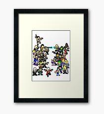 Epic 8 bit Battle! Framed Print