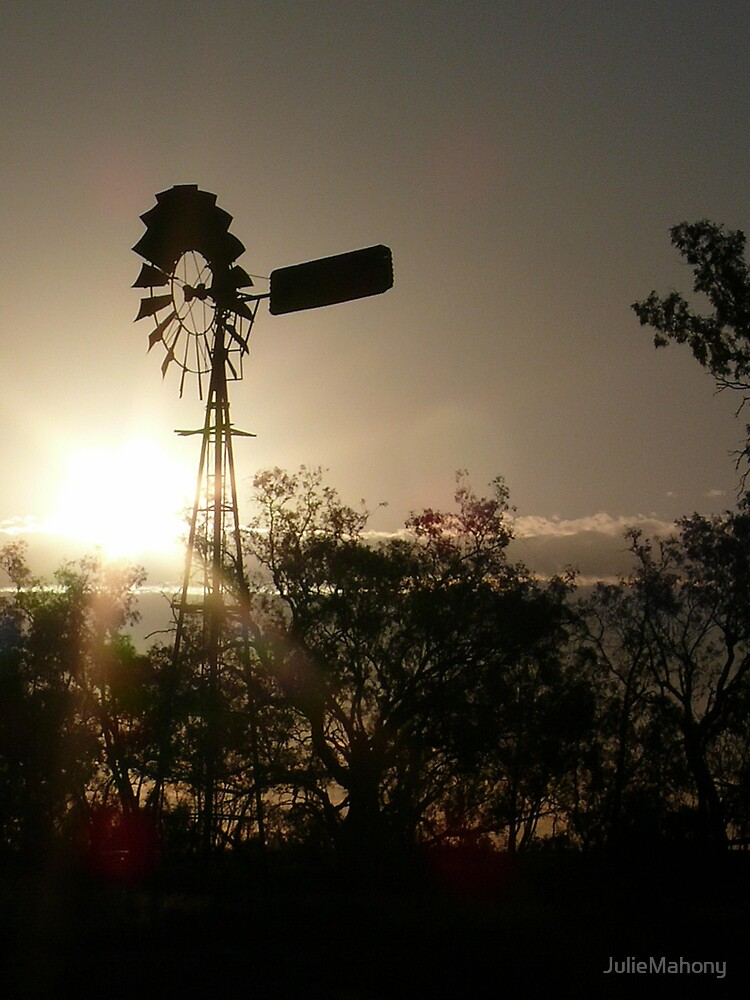 Windmill in Sunset by JulieMahony