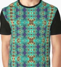 Green and yellow fractal Graphic T-Shirt