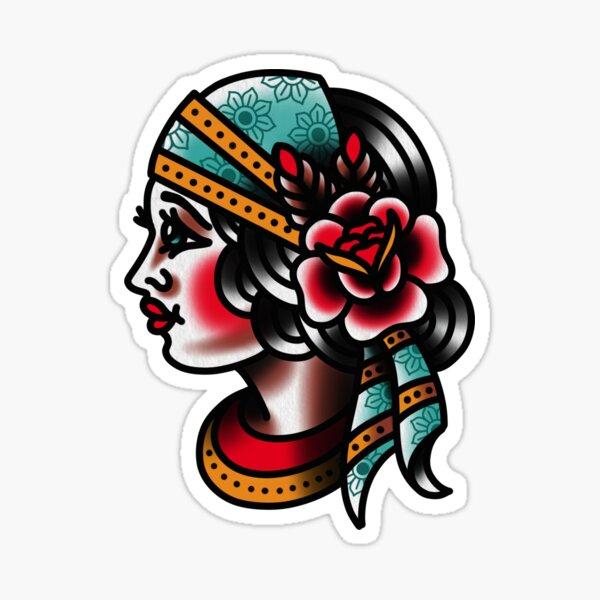 Traditional Gypsy Tattoo Piece Sticker