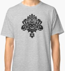Decorative Girly Victorian Style Vintage Floral Ornament Classic T-Shirt