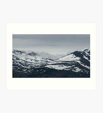 Fog on Mountain Art Print