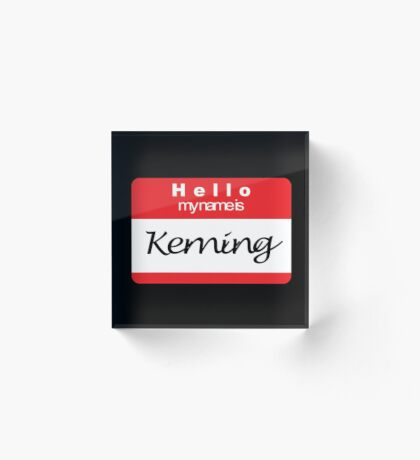 Hello my name is Keming Acrylic Block