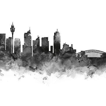 Sydney Skyline by MonnPrint