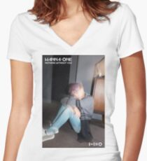 WANNA ONE NOTHING WITHOUT YOU LEE DAEHWI Women's Fitted V-Neck T-Shirt