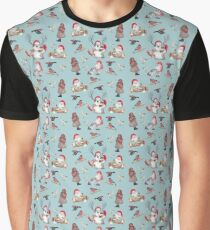 Pattern - Christmas Gnome Teal Graphic T-Shirt
