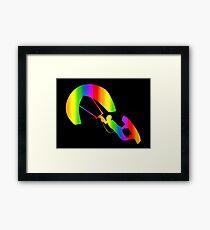 Colorful Kitesurfing Rainbow Sticker Framed Print