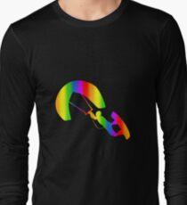 Colorful Kitesurfing Rainbow Sticker T-Shirt