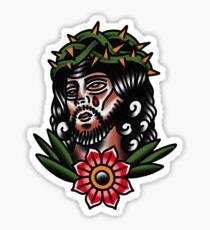 Traditional Jesus Tattoo Piece Sticker