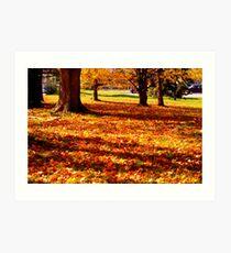 Mother Natures Fall Carpeting Art Print