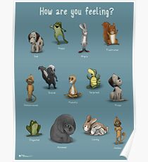 How Are You Feeling? (Blue) Poster