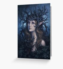Horned crown Greeting Card