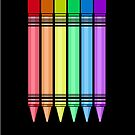Rainbow Crayon 2 by Adam Santana