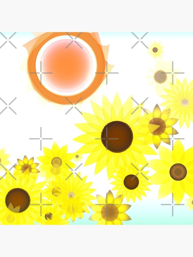 Sun and Sunflowers by uniiunMB