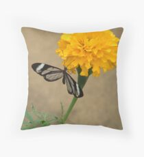 marigold with glasswing Throw Pillow