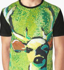 Deer With Orange Ears Graphic T-Shirt