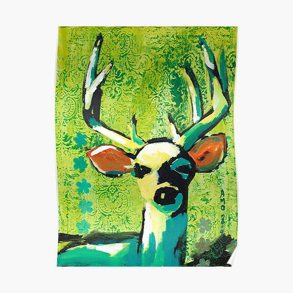 Deer With Orange Ears Poster