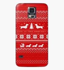 Dachshunds Christmas Sweater Pattern Case/Skin for Samsung Galaxy