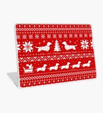 Dachshunds Christmas Sweater Pattern Laptop Skin