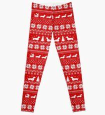 Legging Dachshunds Christmas Sweater Pattern