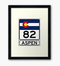CO-82 - Aspen, Aspen Road Sign Framed Print