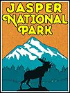 Jasper National Park Alberta Canada Moose Nature Laptop by MyHandmadeSigns