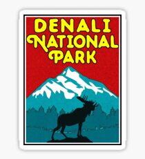 Denali National Park Alaska Moose Mountains Nature Camper Sticker