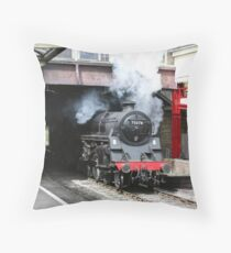 British Rail Standard 4 4-6-0 Locomotive Throw Pillow