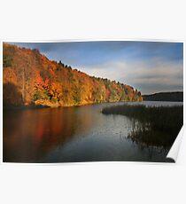 The autumn lake (Lithuania) Poster