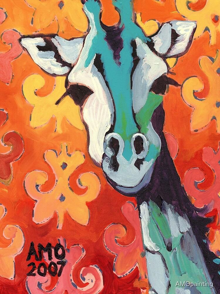 Giraffe by AMOpainting