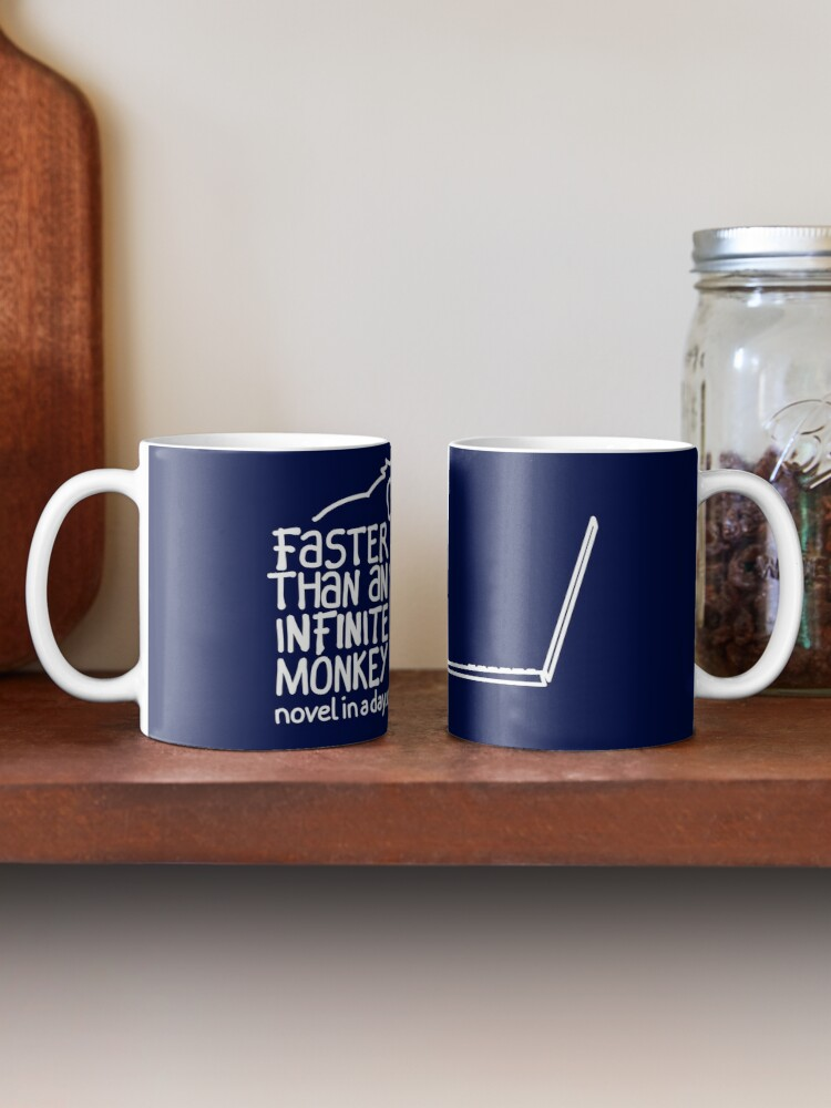 Alternate view of Faster Than An Infinite Monkey Mug