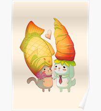 Taiyaki and carrots Poster