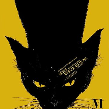 Vintage poster - Black Cat by mosfunky