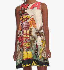 Vintage poster - Canada A-Line Dress