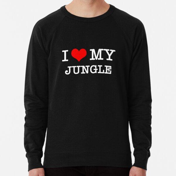 I Love My Jungle - Black  Lightweight Sweatshirt
