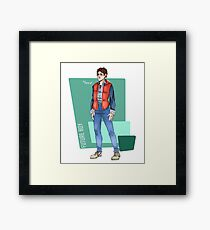 Marty McFly Framed Print
