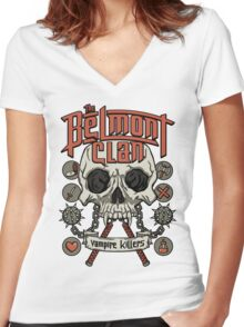 The Belmont Clan Women's Fitted V-Neck T-Shirt