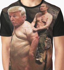 Putin riding Trump Graphic T-Shirt
