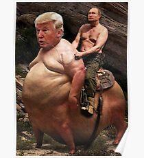 Putin reitet Trump Poster