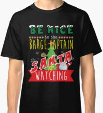 Funny Barge-Captain Xmas Christmas Gift Idea Classic T-Shirt