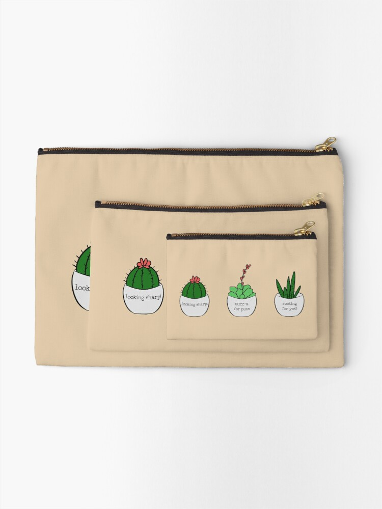 Alternate view of Succ-a for Puns Zipper Pouch