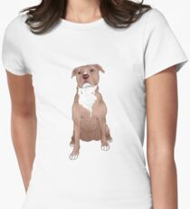 Red Pitbull Women's Fitted T-Shirt