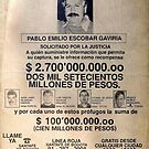 Pablo Escobar wanted poster by pornflakes