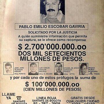 Pablo Escobar wanted poster von pornflakes