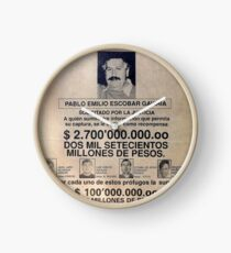 Pablo Escobar wanted poster Uhr