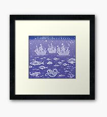 Natural History II in Blue | CreateArtHistory Framed Print