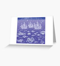 Natural History II in Blue | CreateArtHistory Greeting Card